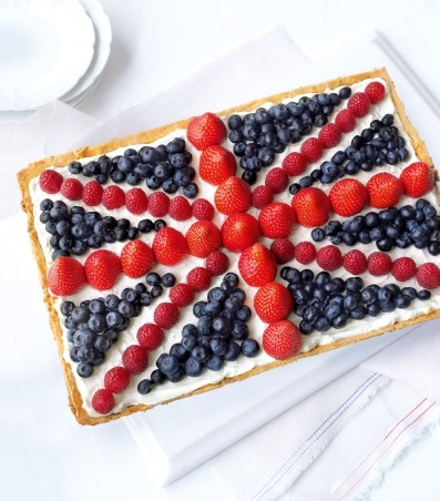 Union flag tart