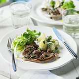 Minted Lamb with Crushed New Potato Salad