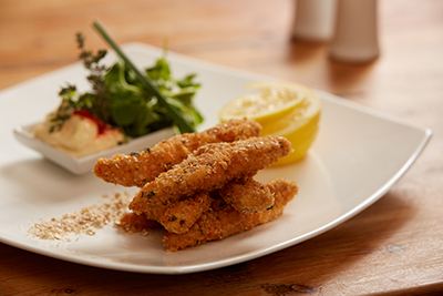 Paprika and Mustard Chicken Goujons